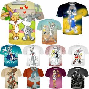 New Women Men Bugs Bunny Naughty Print Casual 3D T-Shirt Short Sleeve Tops Tee