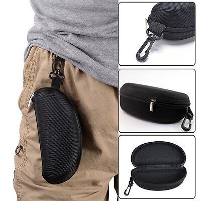 Black Zipper Sunglasses Box Case Portable Eye Glasses Hard Shell Protector Pouch
