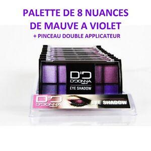 fard a paupiere palette maquillage mauve rose violet pinceau neuf mac106. Black Bedroom Furniture Sets. Home Design Ideas