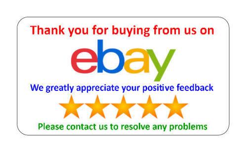 """195  /""""grazie per l/'acquisto di/"""" Venditore Adesivi//Etichette *** NON personalizzato ***"""