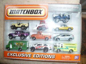 Boîte d'allumettes.   Dix Pack.   Editions Exclusives.   2009. Coulé sous pression.   Boîte scellée.   Quelques bosses.