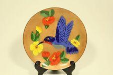 vtg Annemarie Davidson Enamel on Copper Original Mid Century Hummingbird Plate