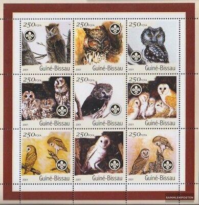 Never Hinged 2001 Birds Online Shop Stamps Stamps Useful Guinea-bissau 1428-1436 Sheetlet Unmounted Mint