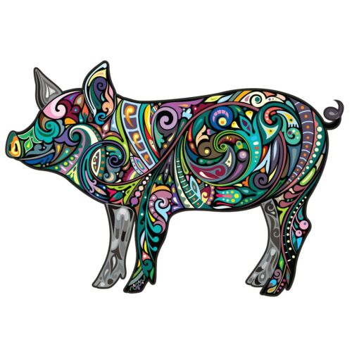 Colorful Pig Wall Decal Car Truck Vehicle Window Decor Laptop 3M Sticker LO401