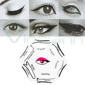 Stencil 6in1 guida eyeliner mascherina linea forma occhi palpebra trucco make up
