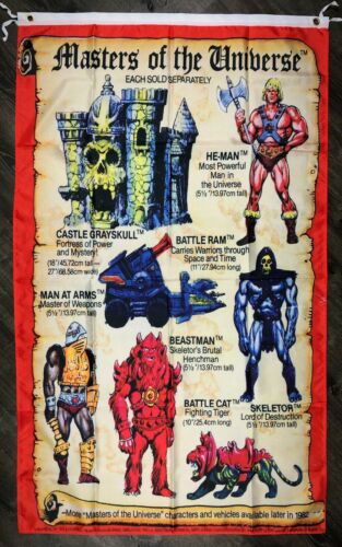 He-Man and the Masters of the Universe MINI-COMIC 3x5 FT Drapeau Bannière Homme-Cave