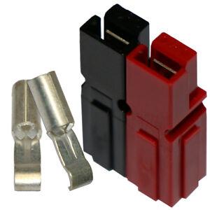 10-x-Anderson-Powerpoles-SET-rot-schwarz-mit-30A-Kontakten-40-Teile