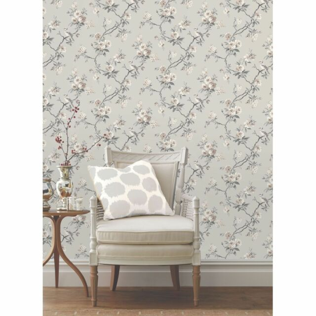 Shabby Chic Floral Wallpaper In Various Designs Wall Decor FD40764