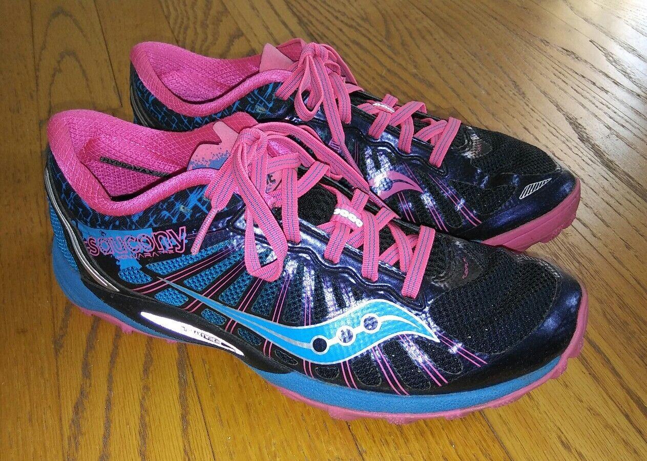Saucony Kinvara TR2 Trail Running Cross Training Shoe Blk/bleu/Pnk femmes  7.5