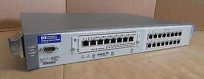 Fiducioso Hp Procurve J4120a 1600 M 16 Porte Switch Di Rete Ethernet Veloce Con Hp J4111a Modulo-