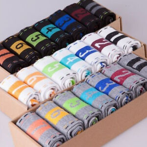 7-Pairs-Hot-Fashion-Mens-Dress-Cotton-Socks-Week-Crew-Socks-Men-039-s-Choose