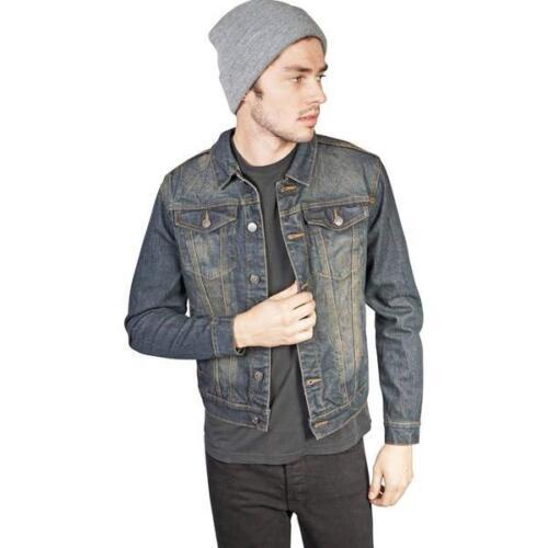 Lip service vintage pour homme délavé slim denim trucker jacket fabricants Standard prix de détail $170