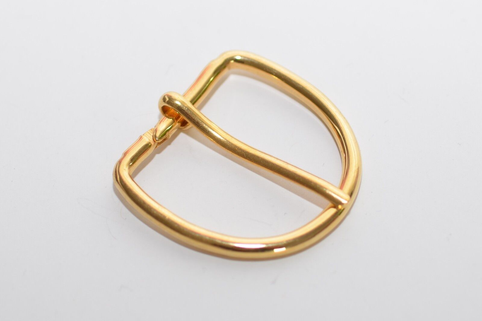 2x Solid Belt Buckle, Approx. 30 MM Width, Gold, Not Welded