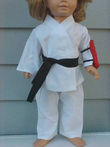 Black Belt /& Red Kick Pad fits Chatty Cathy 4-piece KARATE//MARTIAL ARTS OUTFIT