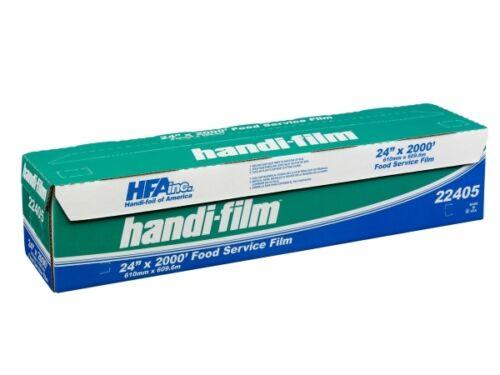 "Handi-Film 24/""x2000/' Food Service PVC Plastic Cling Wrap HFA # 22405"