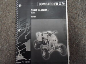 2001 bombardier ds 650 atv shop repair service manual factory dealer rh ebay com 2004 Bombardier DS 650 2004 Bombardier DS 650
