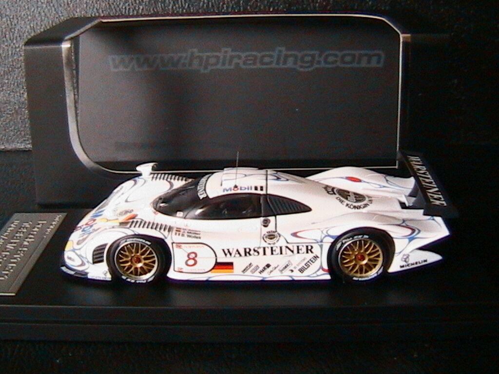PORSCHE 911 GT1 #8 1998 ALZEN MULLER WOLLEK FIA GT HPI 8095 1/43 WARSTEINER
