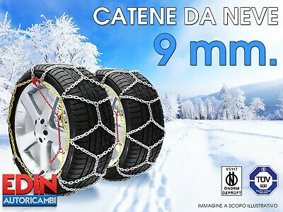 Gruppo 2 Catene da neve 9 mm x SUZUKI ALTO con pneumatici 155//65//13