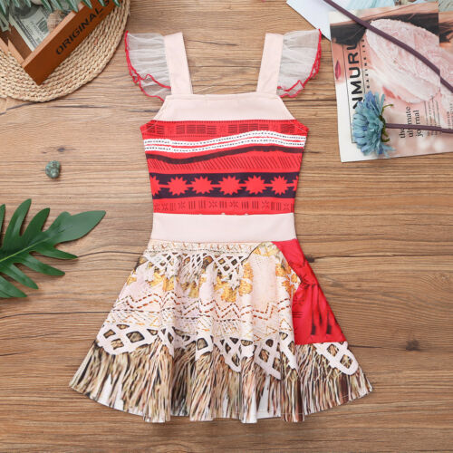 Kids Girls Princess Party Costume Fairytale Dress Up Belle Halloween Fancy Dress