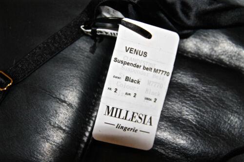 Raso S Fine Nero Lussuoso Nuovo Venus Porta Giarrettiere Taglia Intimo Millesia wqBF6UF