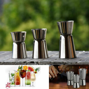 20//40 25//50 Stainless Steel Jigger Cocktail Drink Bartender Mixer Measuring Cup