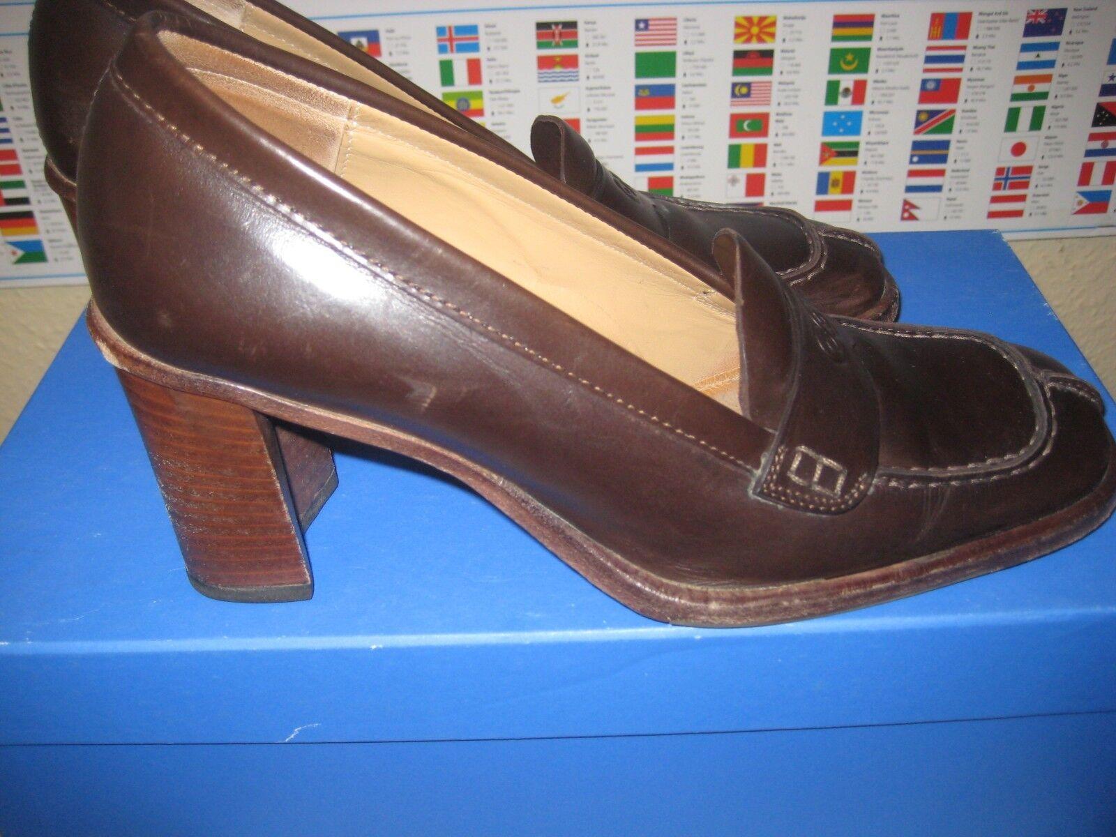 ESCADA Damen Leder, Schuhe, Leder, Damen schokobraun, Gr. 35 f98f77
