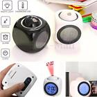 Digital LCD Alarm Clock Multi-function Voice Talking LED Projection Temp Gift HQ