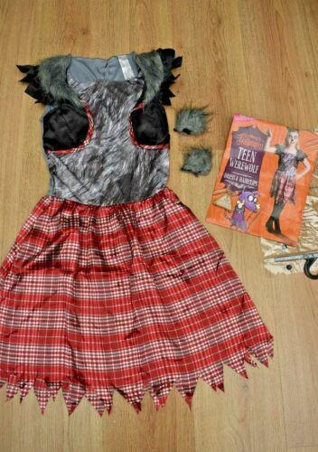 GIRLS BNWT AGE 11-12 YEARS WEREWOLF ZOMBIE HALLOWEEN FANCY DRESS COSTUME