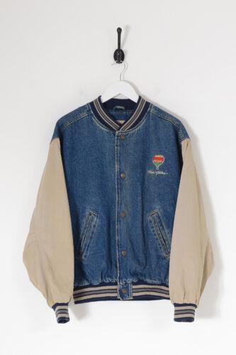 Vintage Men's Reno Hilton Denim Varsity Jacket Mid