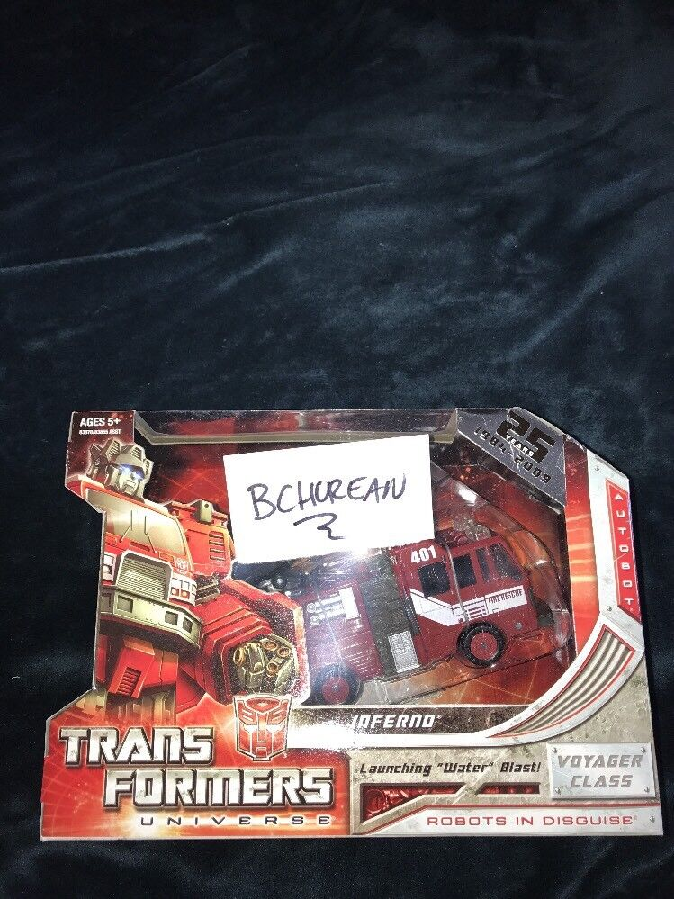 TRANSFORMERS Generations Classics Universe 2.0 Voyager Inferno New 25th