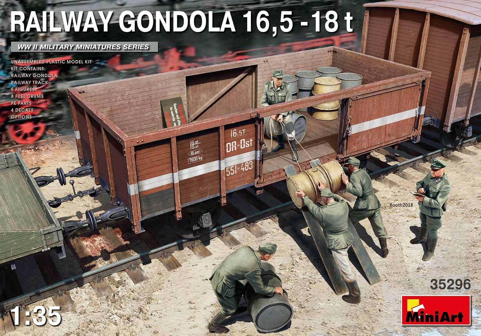 solo per te Miniart 1 35 Ferrovia Gondola 16,5 -18t -18t -18t  35296  una marca di lusso