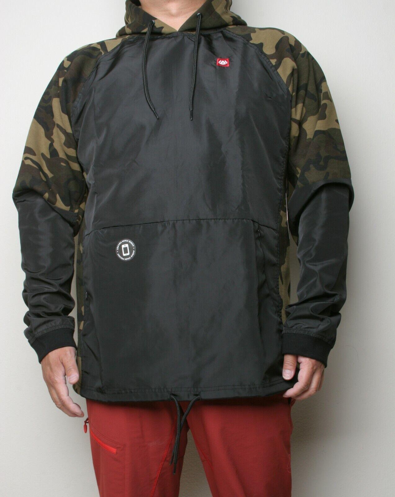 686 Hybrid Fleece Pullover Hoody (L) Dark Camo M0WLAY10-DKCM