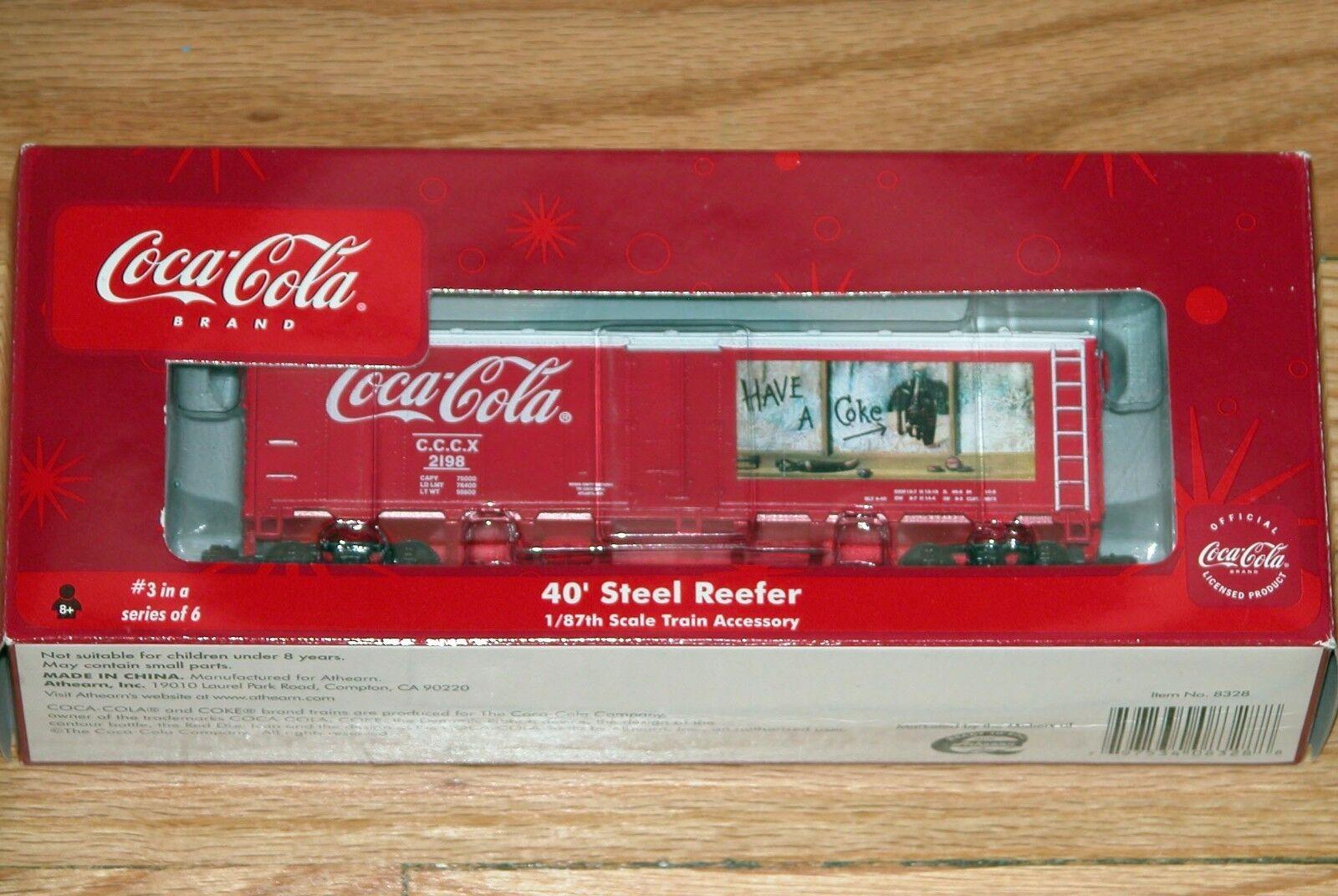 Athearn 8328 Coca-Cola Tren serie 40' Acero hierba   3 cccx 2198