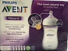 Philips Avent Natural Baby Bottles Clear 9oz,5 Pack, Wide Neck 1m+