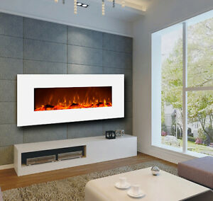 Image Is Loading Touchstone 50 034 Ivory Wall Mount Electric Fireplace