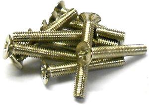 L1062 M4 x 16mm 4 x 16 Métrique Croix Argent Tête contre-percé Vis x 10