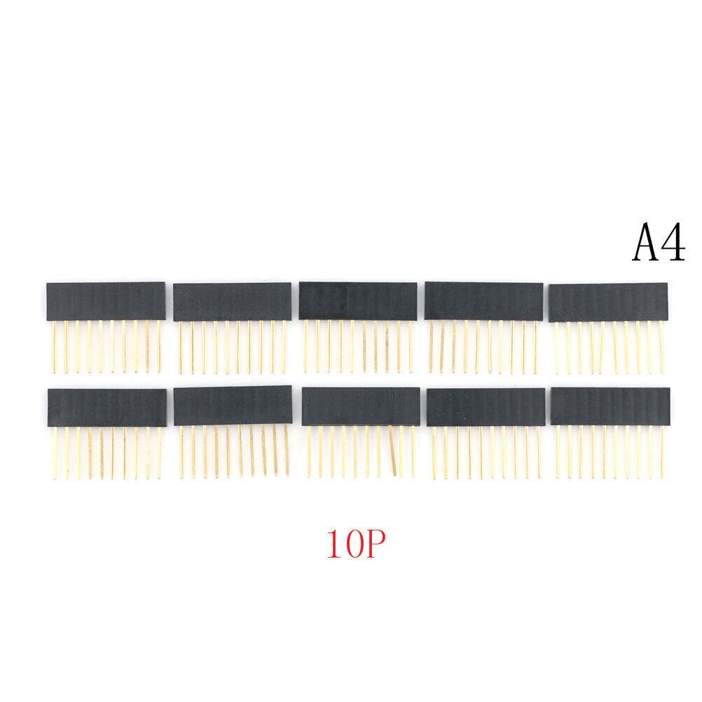 10pcs 2.54 mm Stackable Long Legs Femal Header For Arduino Shield Gut U/_M