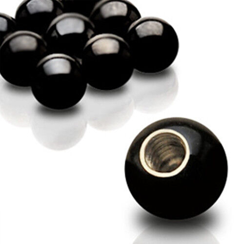 Negro piercing bala 1,2mm rosca schraubkugel en 2,5//3//4//5mm Black Ball oreja