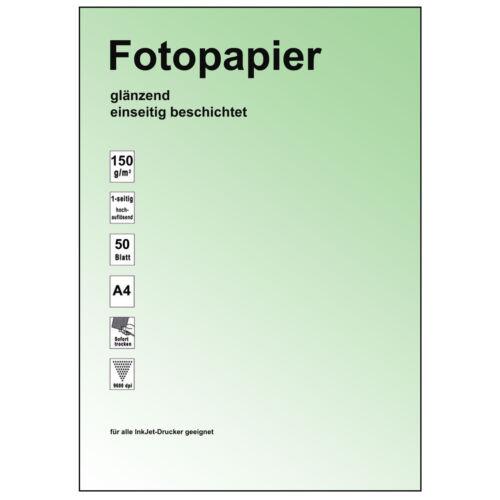 1-seitig beschichtet photo-glänzend 150g A4 Inkjet Papier 100 Blatt
