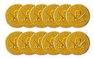 72-Gold-Pirate-Coins-6-Bags-Of-12-Plastic-Treasure-Party-Loot-Bag-Pinata-Fil