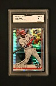 2019 Topps Chrome Victor Robles #33 Prism Refractor - Graded 10 Gem Mint