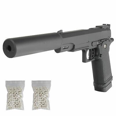 Softair Pistole Voll Metall Fps6 Schalldampfer Airsoft Silencer 500x0 2g 6mm Bb Ebay