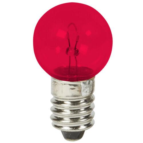 BULB 6V 2.4W E10 SCREW TYPE 10mm COLORS VINTAGE CYCLE BIKE LAMP DYNAMO LIGHT