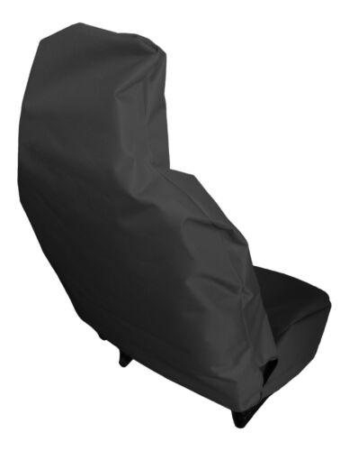 Heavy Duty Black Waterproof Car Seat Covers 2 x Fronts SEAT Leon FR