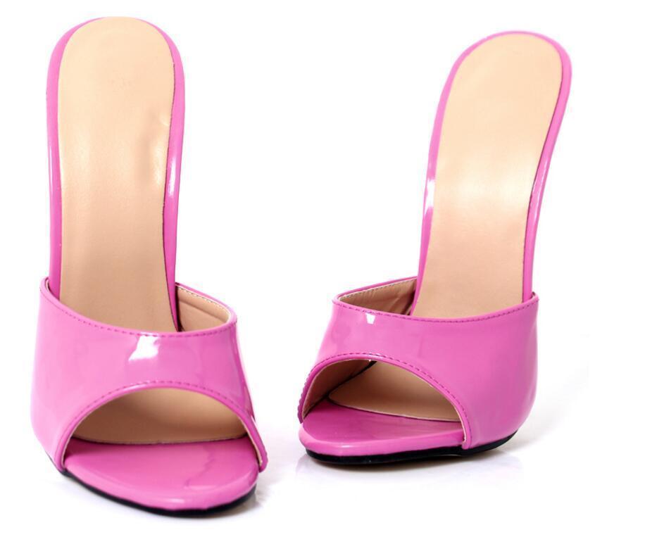 Women Man 18cm EXTREME Heel Stilettos Peep Toe Slippers Slippers Slippers Mules Sandals Nightclub 57b4a3