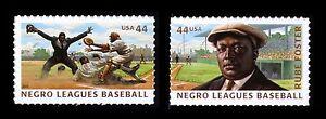 #4465 & 4466 44c Negro Leagues Béisbol, Individuales, Nuevo Cualquier 5=