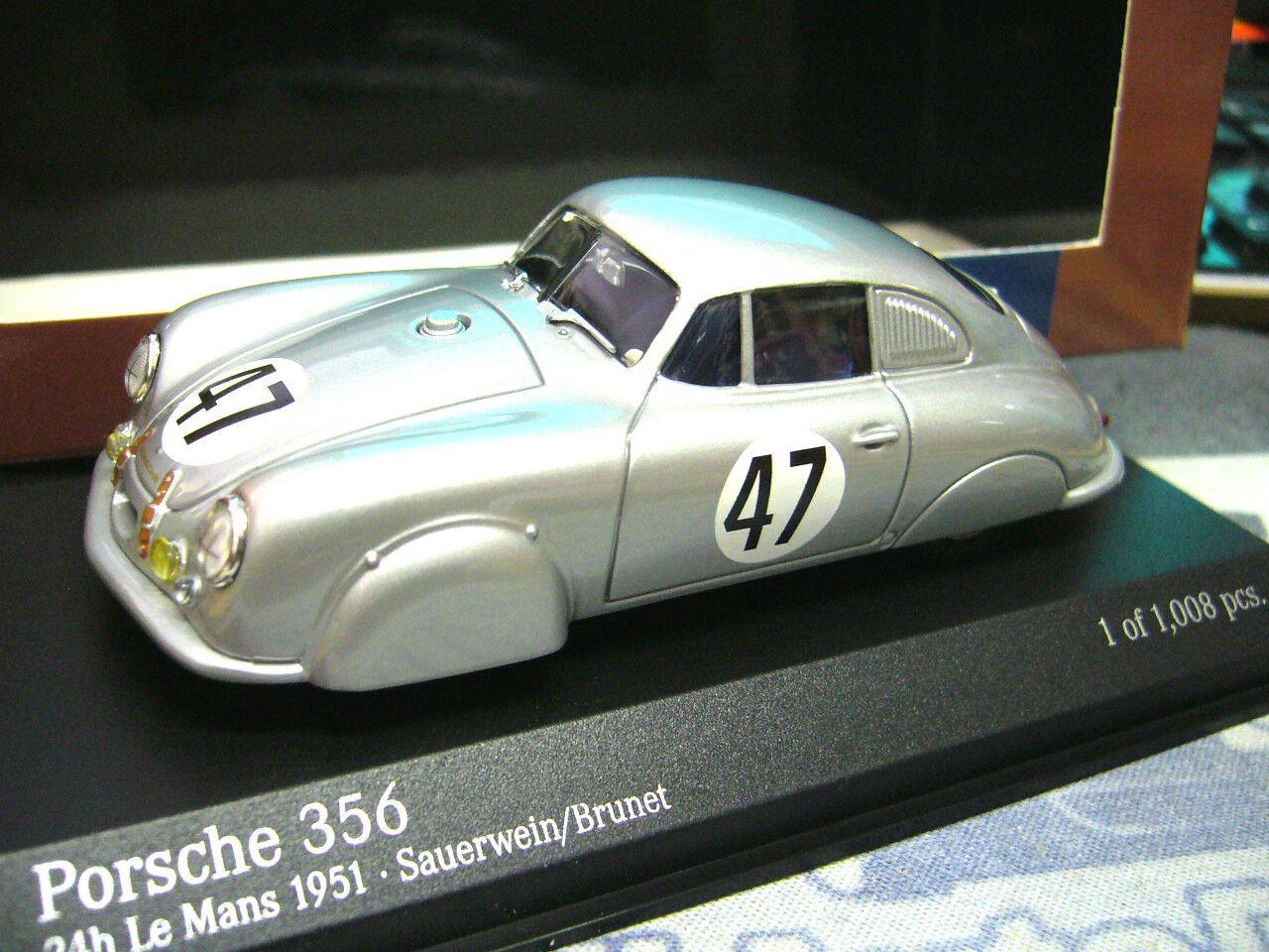 Porsche 356 le mans racing  47 alu métal léger coupe 1951 pma Minichamps 1 43