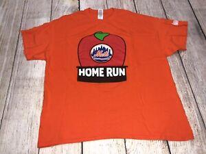 New York Mets Big Apple Home Run T-Shirt Dunkin Donuts Sponsor Size XL