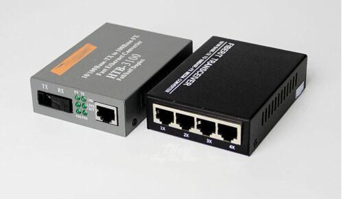 1 SC port 1 RJ45 1 Pair Fiber Optical Media Converter 1 SC port 4 port RJ45