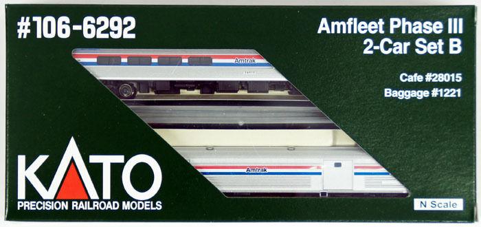 Kato 106-6292 Amfleet Phase III 2 Cars Set B ( n Maßstab)